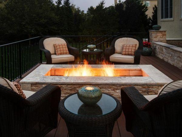 Moderne Ethanol Feuerstelle Sorgt Fur Romantik Feuerstelle Garten Terassenideen Hintergarten