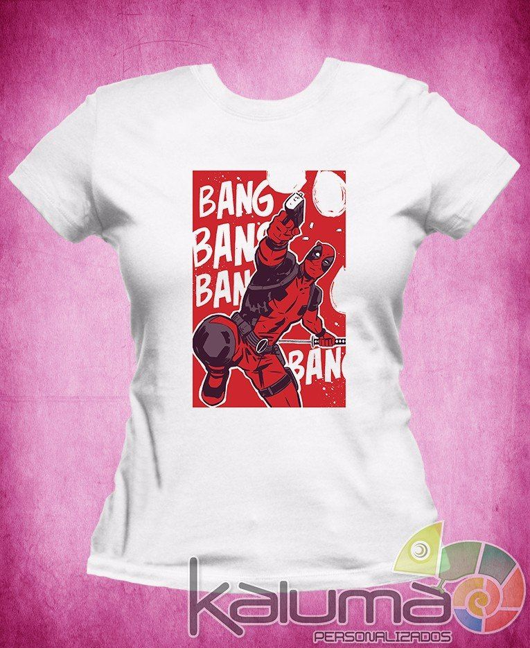 camiseta deadpool marvel dc iron 100% poliéster #2034