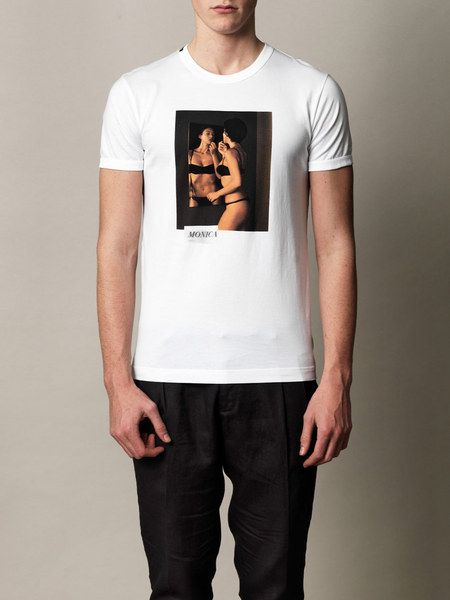 9e2655b09 Dolce & Gabbana Monica Bellucci Print Tshirt in White for Men - Lyst ...