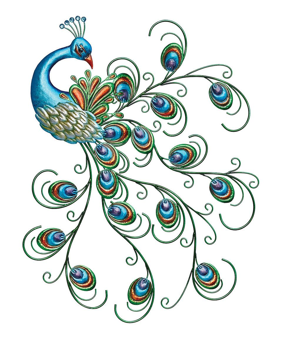 Love this Metal Peacock Outdoor Wall Décor by Regal Art & Gift on ...