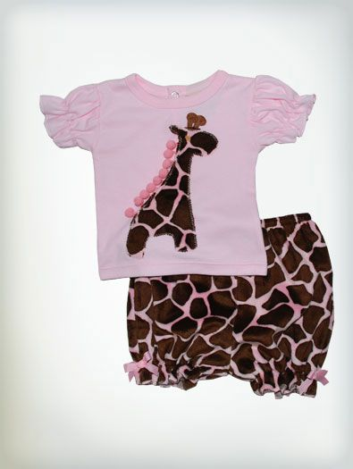 Haute Baby Jungle Love Pink Bloomer Set