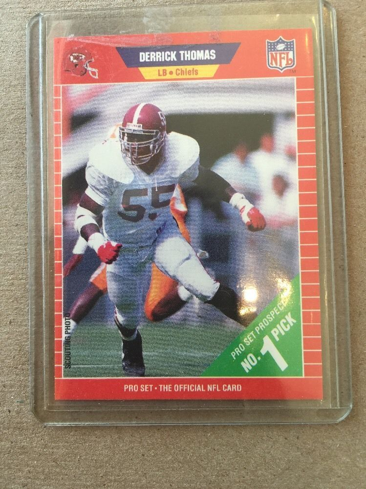 1989 Pro Set Football Derrick Thomas Rookie Card 498 Kansas City Chiefs