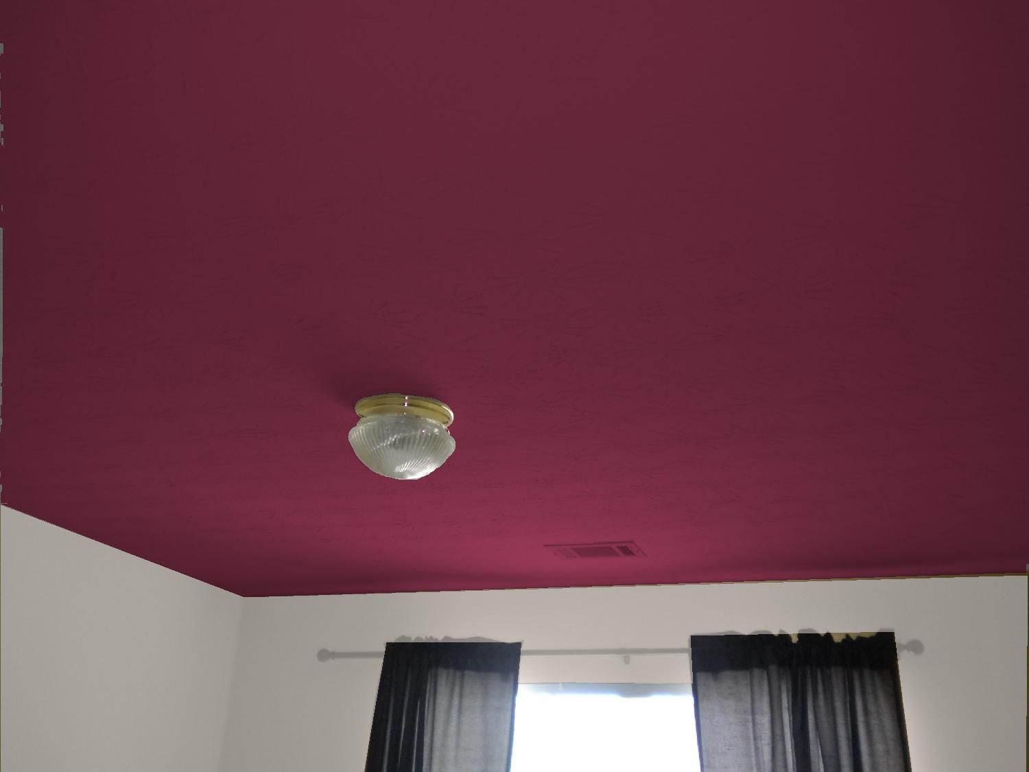 Ceiling Color Framboise By Sw Colored Ceiling Room Colors Girl Nursery