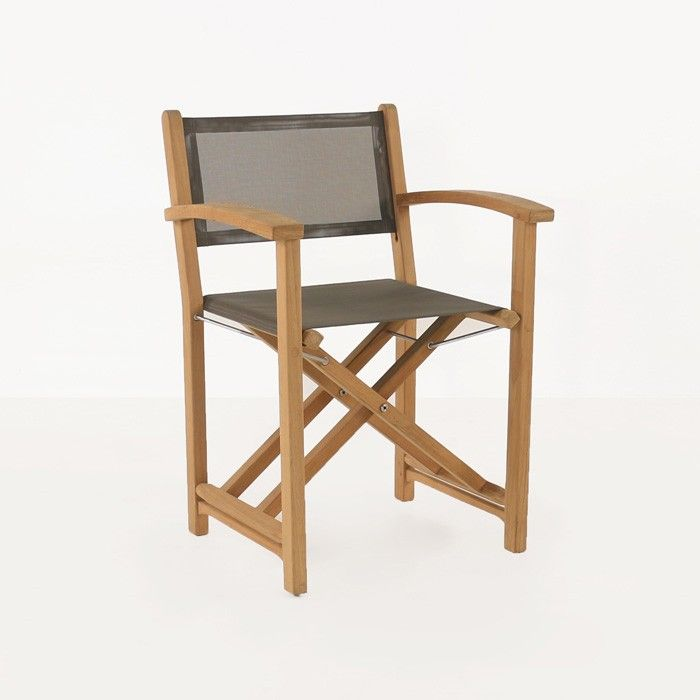 A Gorgeous Teak Directors Chair A Taller Thinner Look Than Our Quot Beach Directors Chair Quot But With Great D Chair Outdoor Dining Chairs Directors Chair