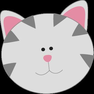Gray Kitty Cat Face Face Cat Face Cute Cat Face Cat Cards