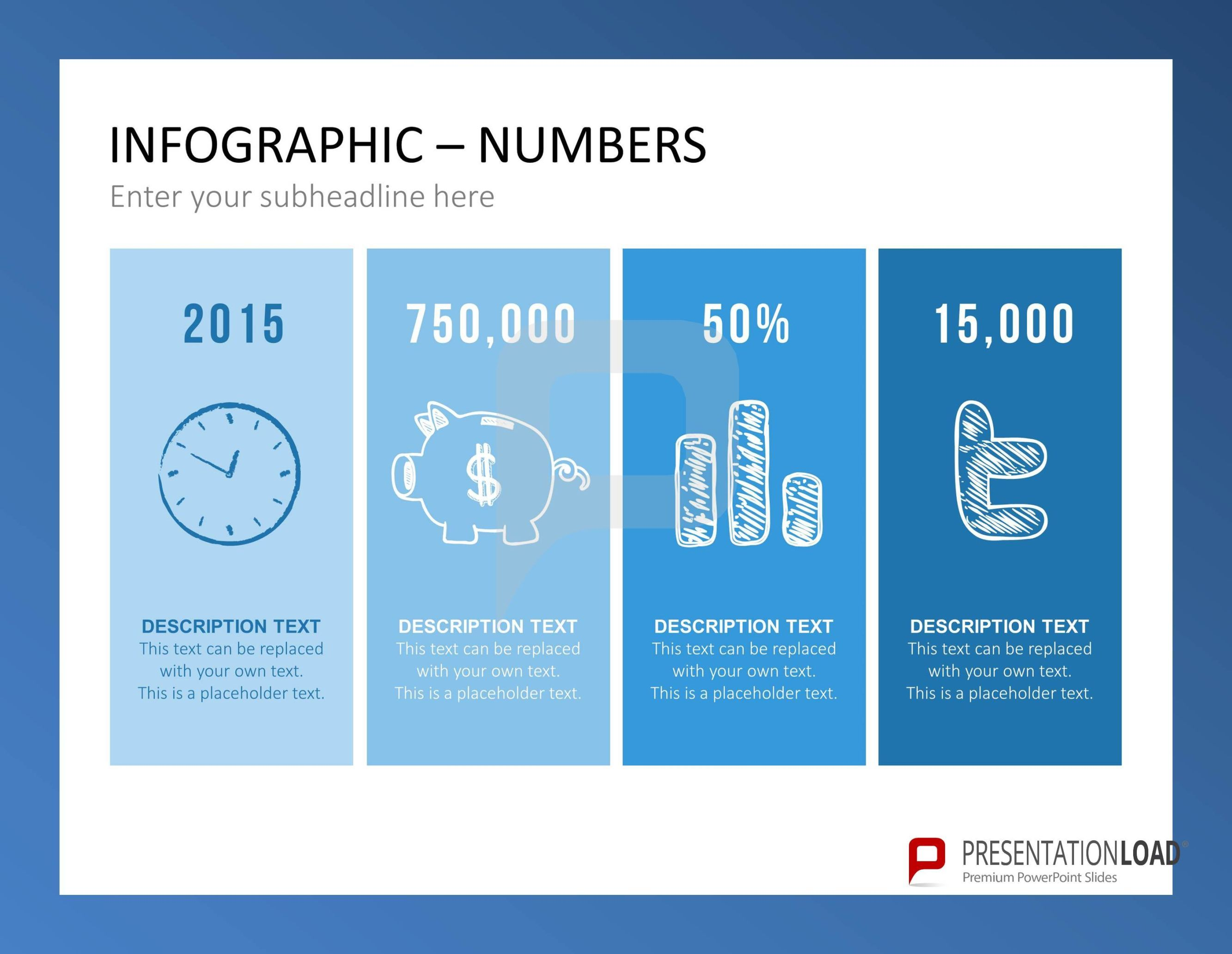 The infographic set for PowerPoint is ideal to plug-in your stats ...