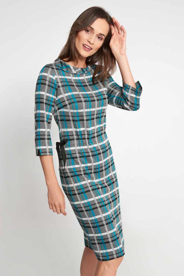 Sukienka W Krate Z Wiazaniem Z Boku Quiosque Pl Long Sleeve Dress Fashion Dresses With Sleeves