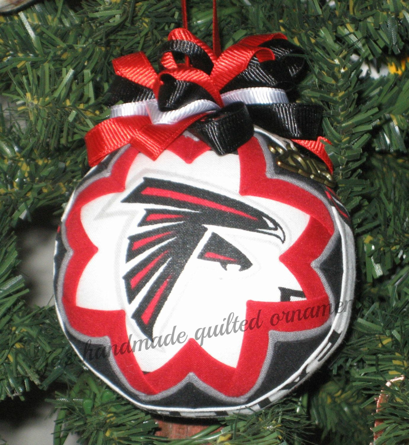 Atlanta Falcons Quilted Ornament Made From Falcons Fabric Atlanta Falcons Falcons Ornaments How To Make Ornaments Quilted Ornaments Diy Christmas Ornaments