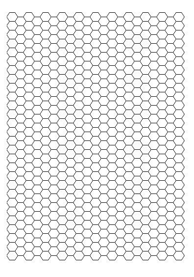 Hexagon Graph Paper Geometric Hexagon Minimal Grid Graphic Pattern