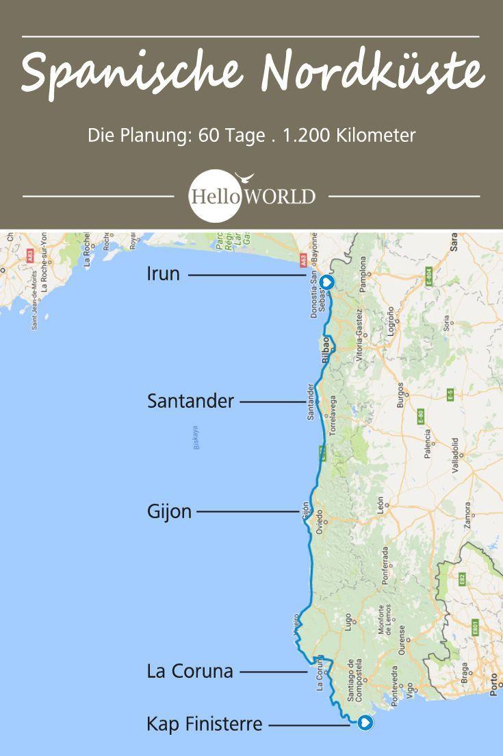 Camino Del Norte Etappen Kustenweg Von Irun Nach Finisterre Asturien Gunstig Urlaub Buchen Spanien Reise