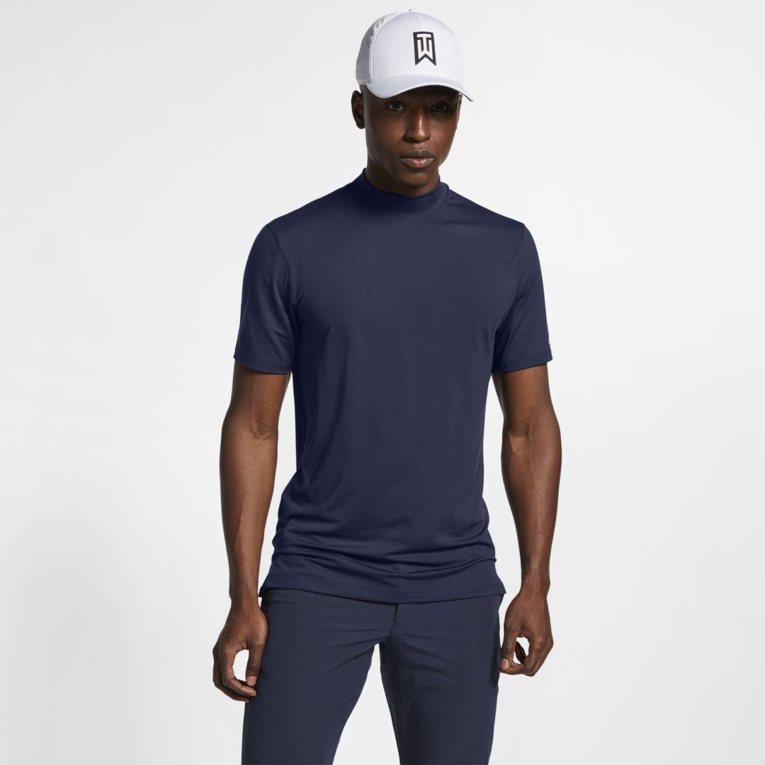 4fba17dc23b6a Nike Dri-FIT Tiger Woods Vapor Men's Mock-Neck Golf Top Size 2XL (Obsidian)