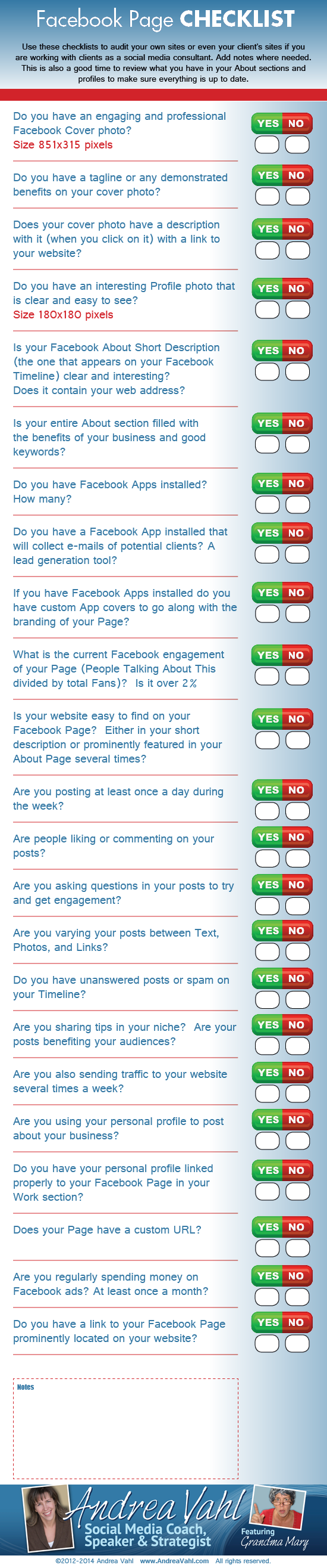 www.incometriggerconsulting.com Facebook Page Checklist. This is a great health check for your FB presence. Any questions? Go to my website to book an obligation free call with me.