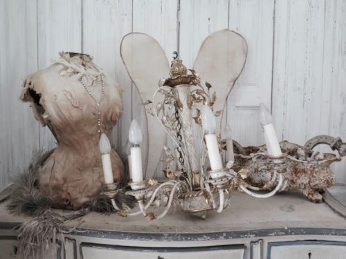 France-Old-Chandelier-Florentine-Wood-Chandelier-French-Shabby