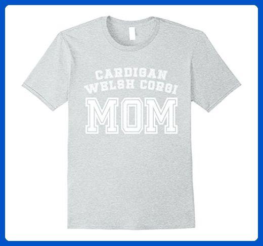 Mens Cardigan Welsh Corgi Mom Mother Pet Dog Shirt Cute Funny Small Heather Grey - Relatives and family shirts (*Amazon Partner-Link)