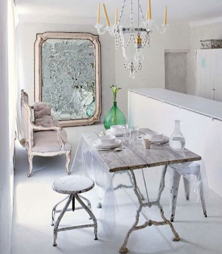 Décoration et meubles shabby chic d\u0027occasion I Pinterest Shabby