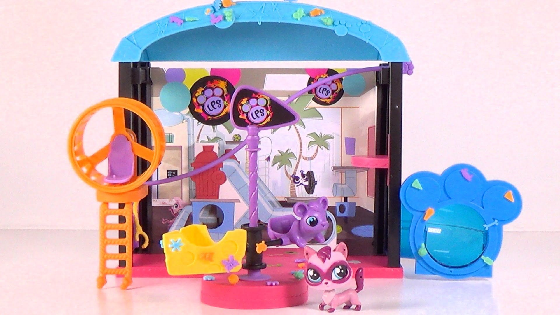 Littlest Pet Shop Fun Park Playset Toy Unboxing and Play