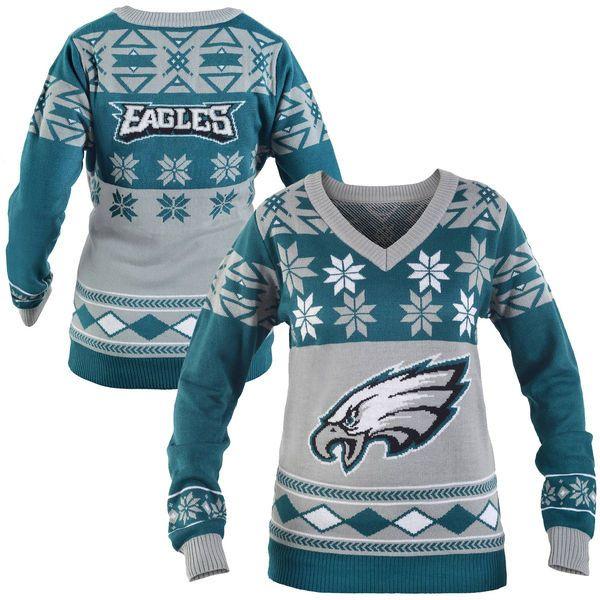 Philadelphia Eagles Women S Big Logo Ugly Sweater From