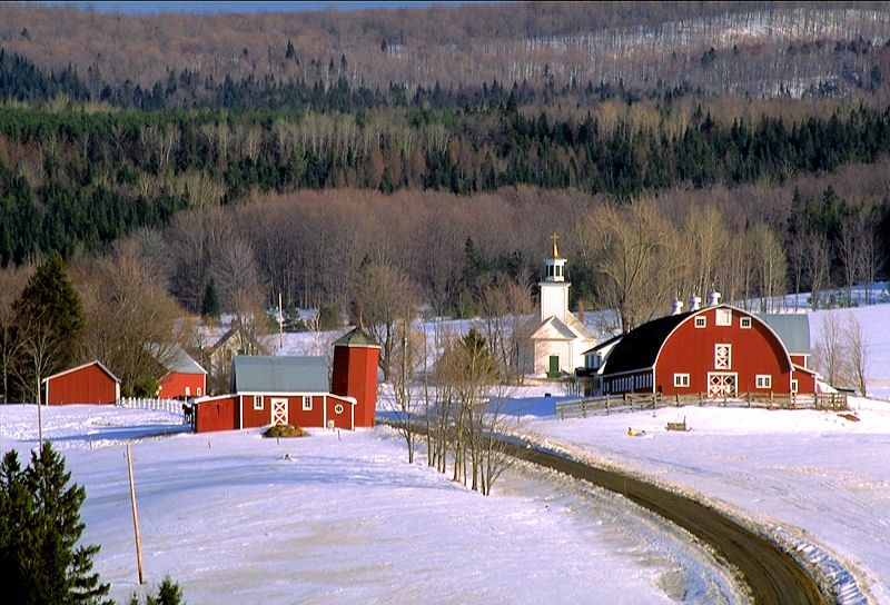 Winter in East Albany Orleans County, Vermont Haunted