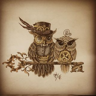 29b5333ab618cfb41a11d60a43d99325 Jpg 320 320 Steampunk Tattoo Owl Tattoo Design Owl Tattoo