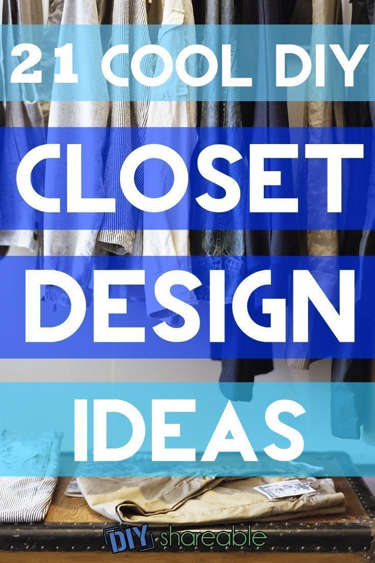 21 Cool DIY Closet Design Ideas to Organize Like a Pro ...