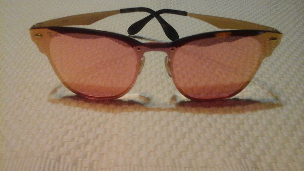 5dbe9cb906 Ray-Ban RB3576N Blaze Clubmaster 043 E4 Gold Frame Pink Mirror Lenses NEW  VAU  fashion  clothing  shoes  accessories  unisexclothingshoesaccs ...
