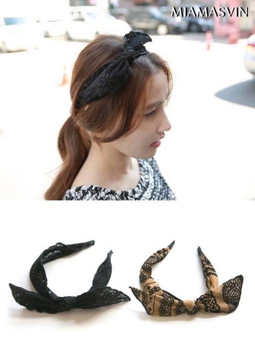 Lace Ribbon Headband #style #chic #cute