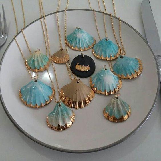 Deniz Kabuğu Boyama örnekleri Takı Deniz Tema Shell Crafts