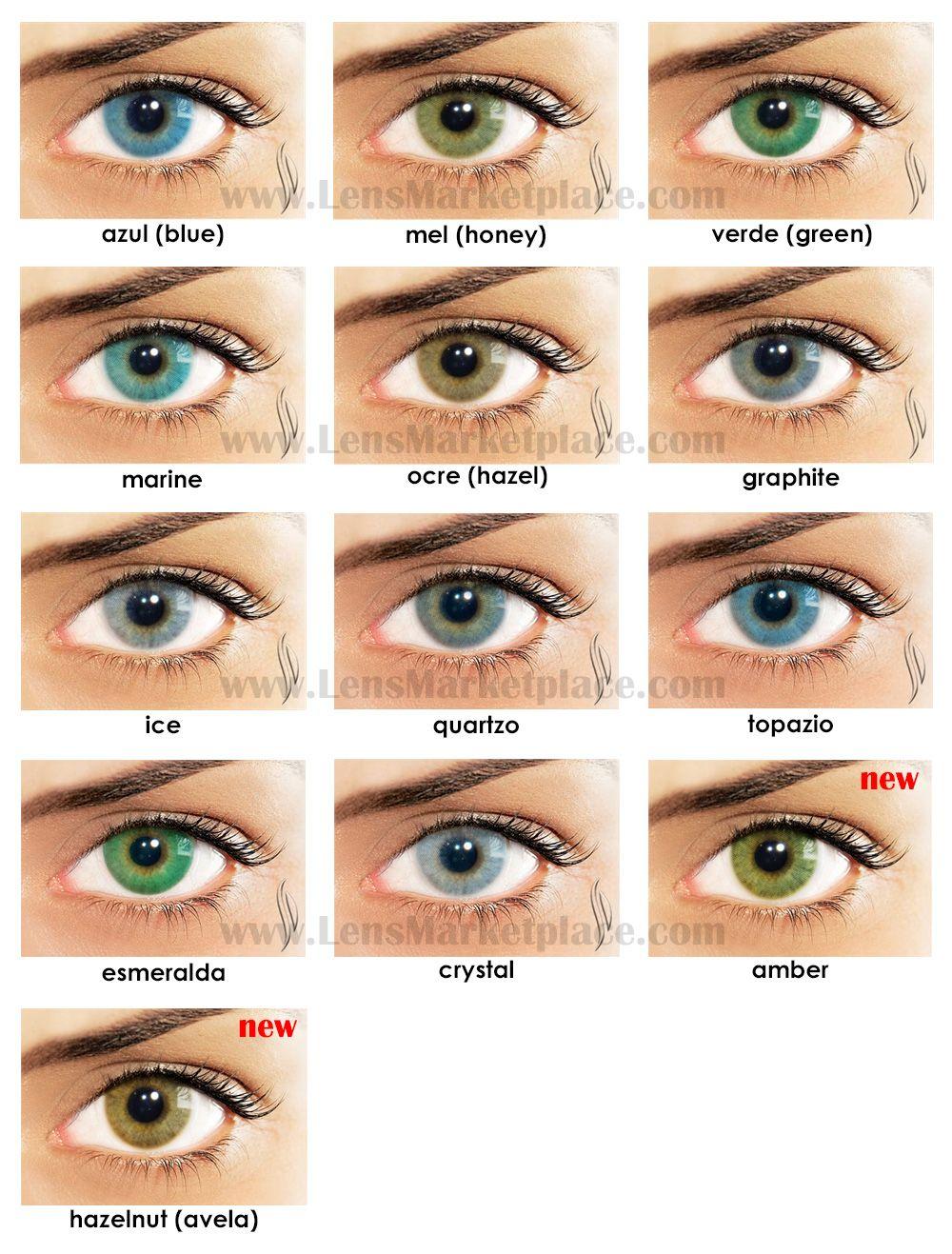 LIZ Eye Color Contact Lenses - 20 Colors | Color contacts, Eye ...