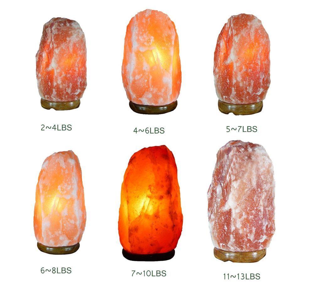 Himalayan Natural Ionic Rock Crystal Salt Lamp Purify Air Asthma