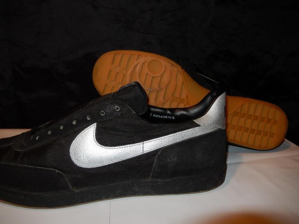 reputable site a4b89 9d8ae VTG OG Nike Dasher 1982 Soccer Shoes BlackSilver Size 15 DeadStock NOS  original Nike AthleticSneakers
