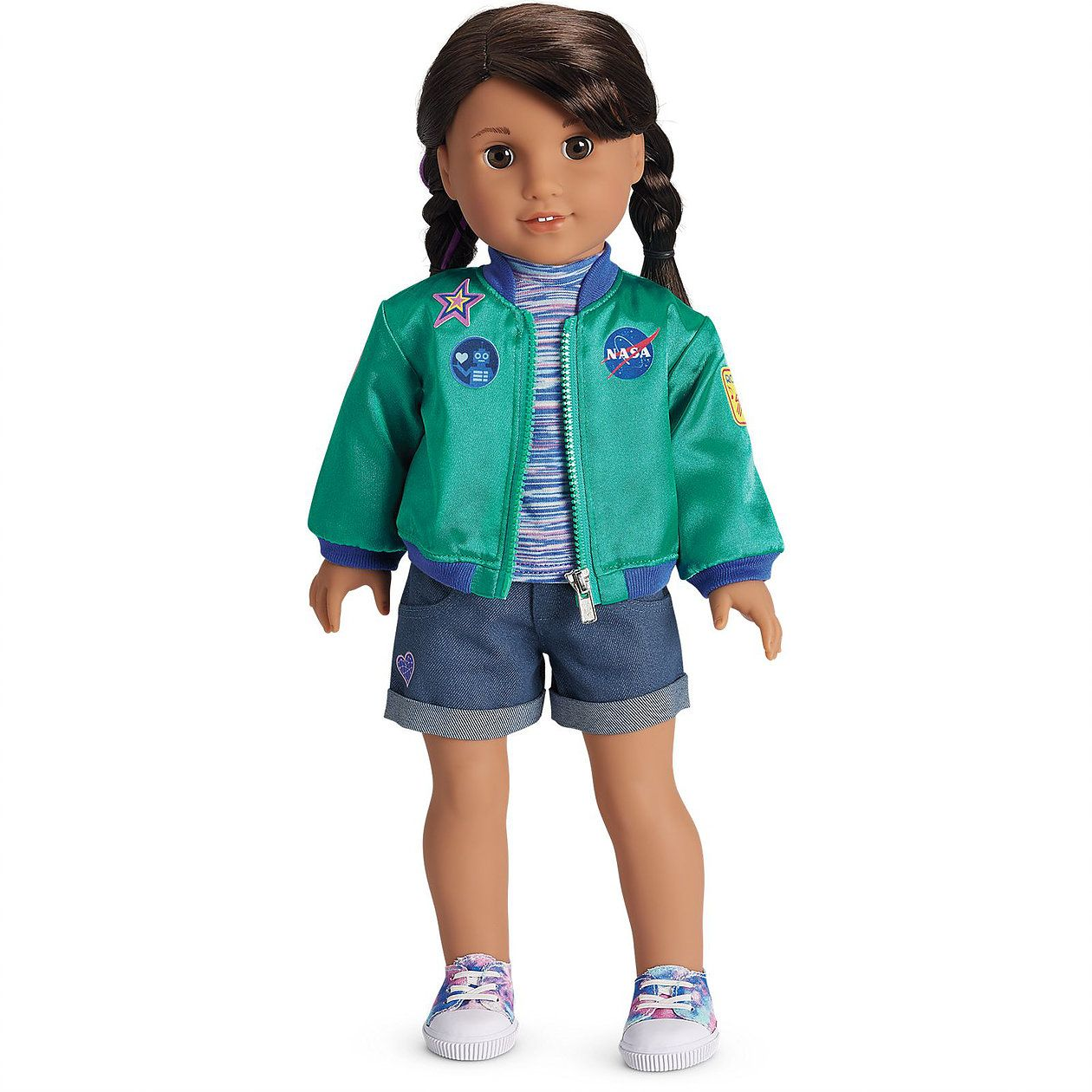 """American Girl Luciana Space Suit and Flight Suit for 18/"""" 2018 GOTY Doll New"""