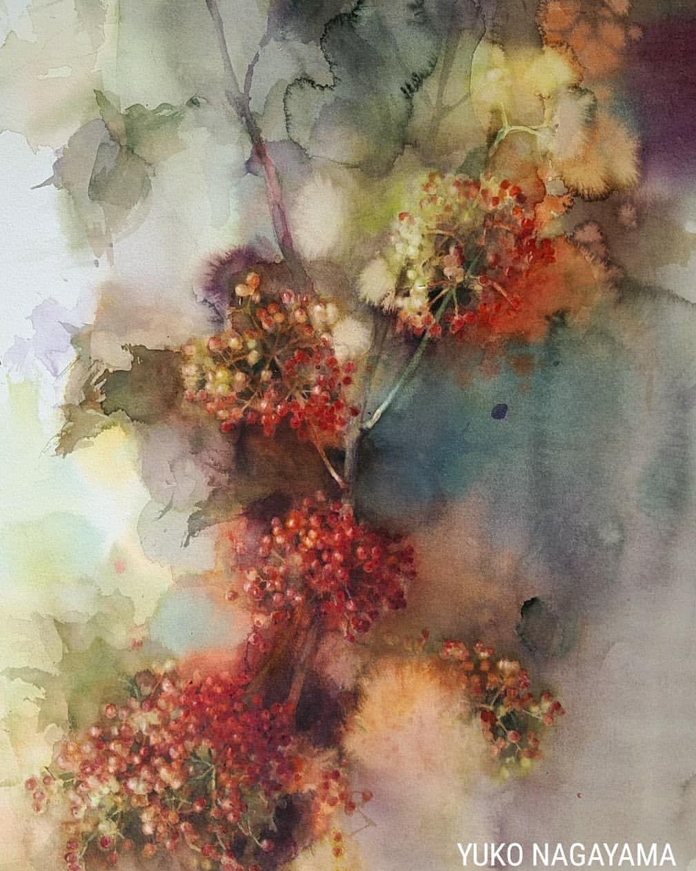 昼の花火 Aqurelle Watercolorpainting Watercolor Yukonagayama