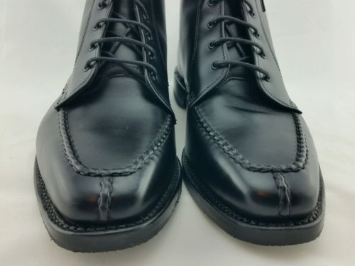 BLACK-LEATHER-LACE-UP-BOOTS-9D-NWOB
