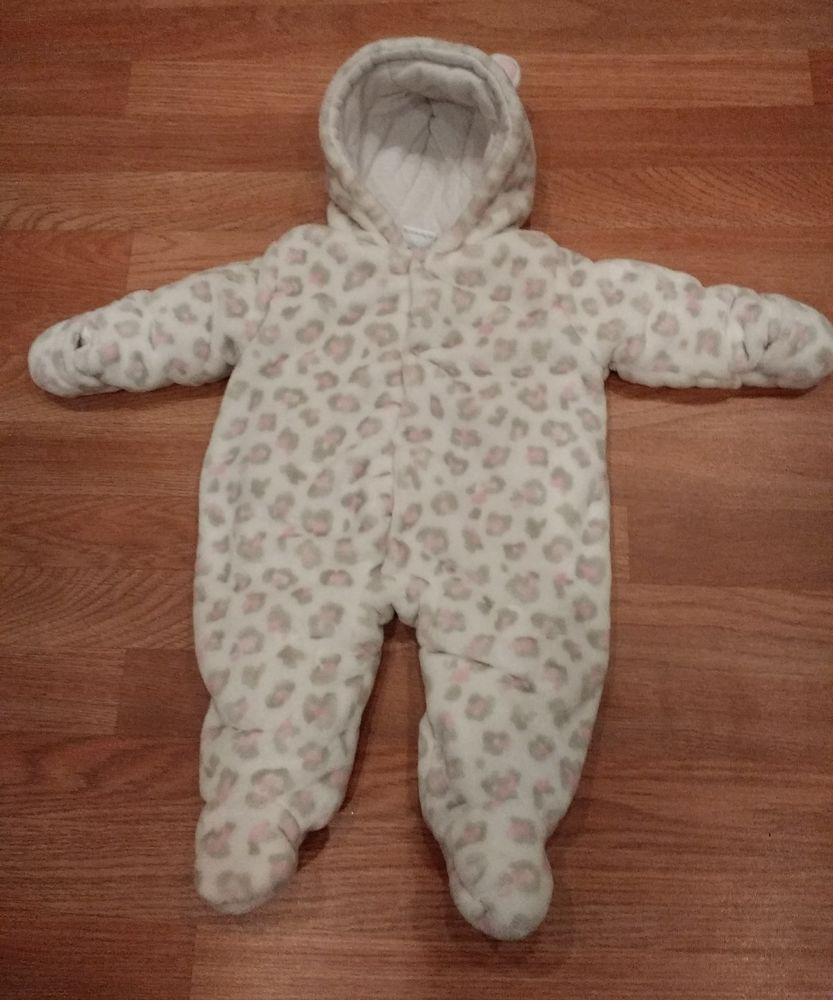 8d6d25007 Koala Baby Leopard Infant Girl Snowsuit Bunting 3 Months Cat White Pink Baby  #KoalaBaby #Snowsuit #Everyday