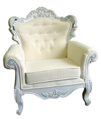 Superbe A Large Poofy White Chair To Sit Upon