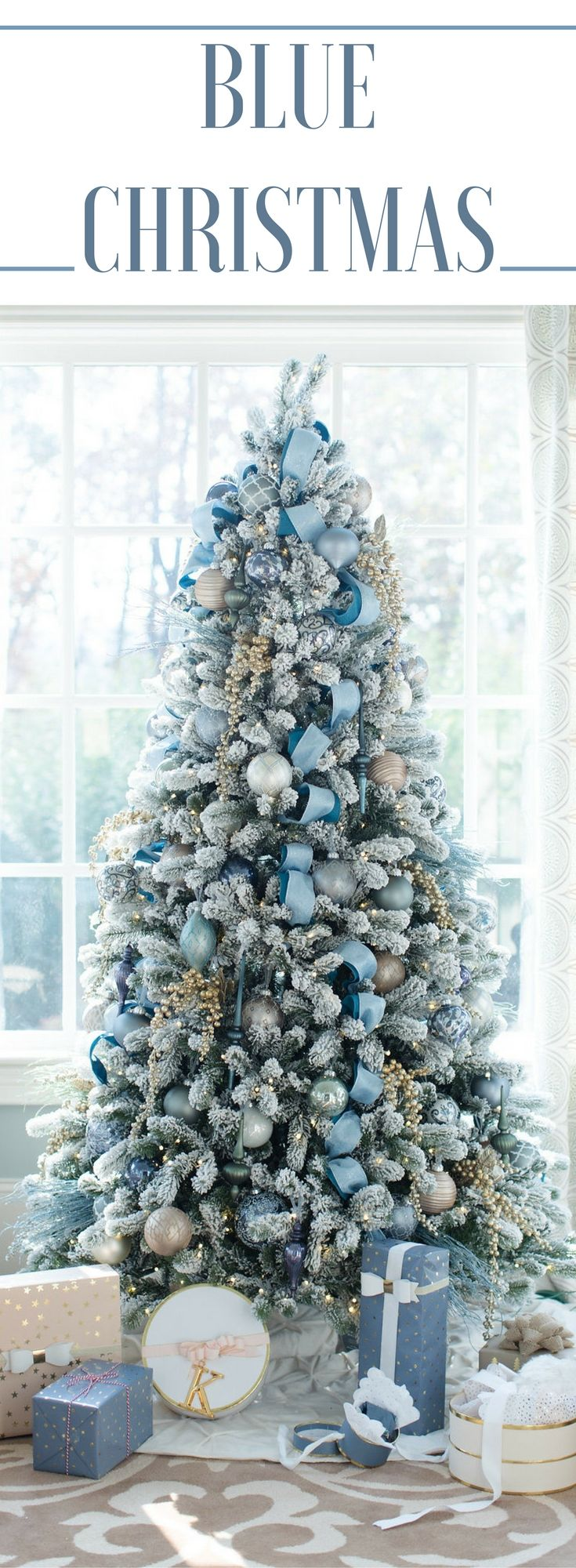 Blue christmas trees decorating ideas - Blue Christmas Decorating Ideas A Tour Of Our Home