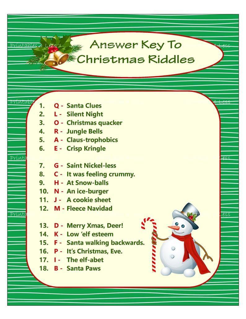 Printable Christmas Word Scramble Christmas word
