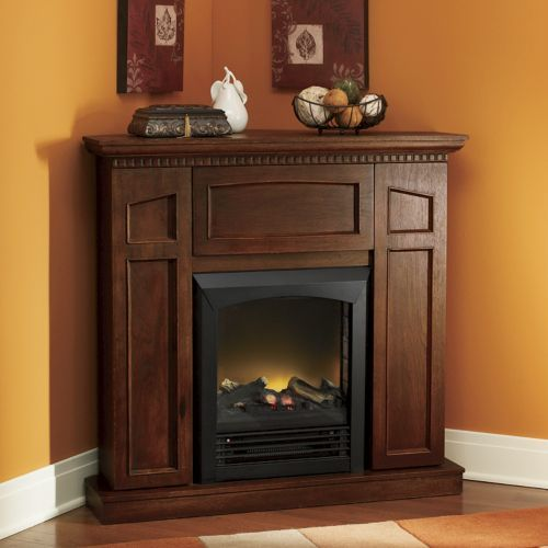 Convertible Electric Fireplace With Storage From Through The