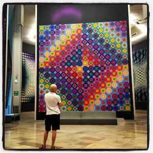 Monumental op-art works by Victor Vasarely at the Vasarely Foundation in Aix en Provence, France