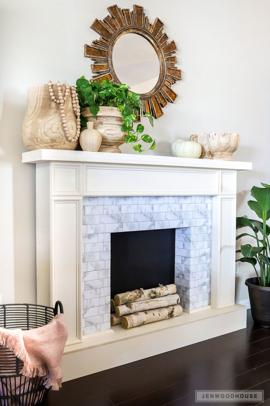 How To Make A DIY Faux Fireplace Featuring Smart Tiles