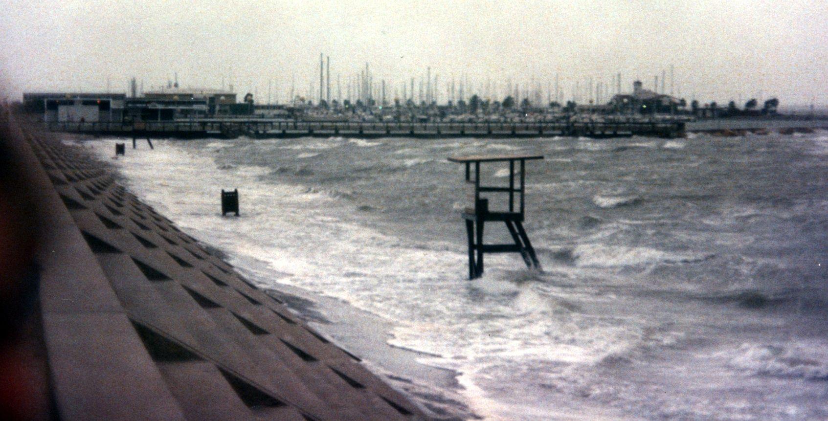 On The Seawall Circa 1987 Waiting For Hurricane Gilbert I Believe Sea Wall Corpus Christi Hurricane Gilbert