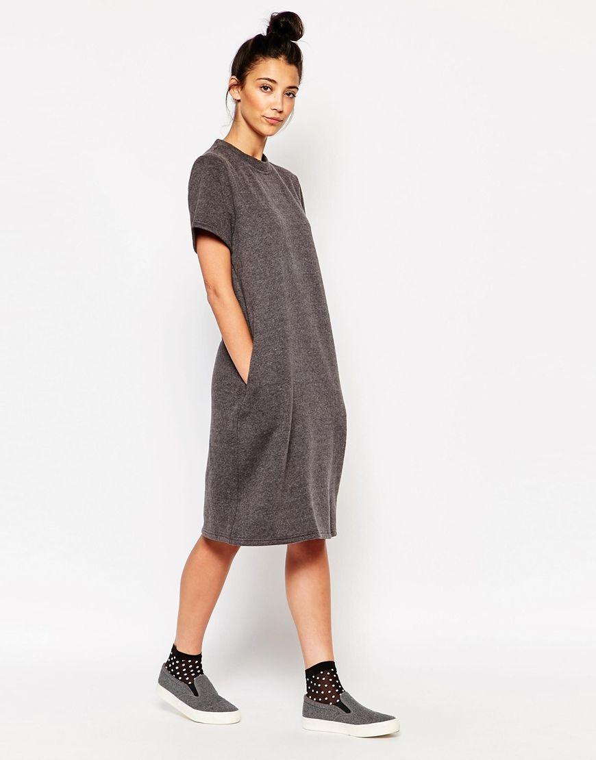 d42129cce6 The WhitePepper Oversized Midi T-Shirt Dress in 2019 | fashion | T ...