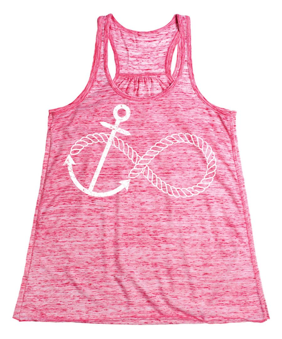 Look at this Red Marble Infinity Knot Flowy Tank on #zulily today!