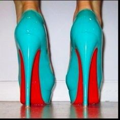 turquoise loubs
