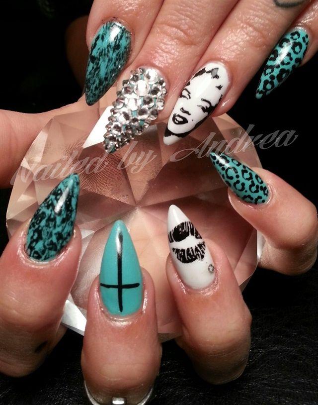 Day 138: Marilyn Monroe Nail Art   Pop Culture Nail Art   Pinterest ...