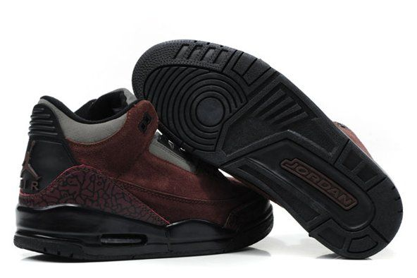 on sale 82ccb a441c Nike Air Jordan Cement 3 III Retro Mens Shoes 2012 New Fur Coffee