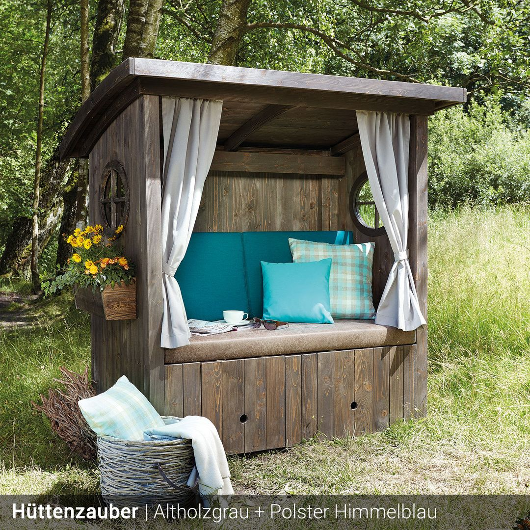 Lounge Paradise Outdoorlounge Huttenzauber Holz Im Garten Outdoor Dekorationen Outdoor Lounge