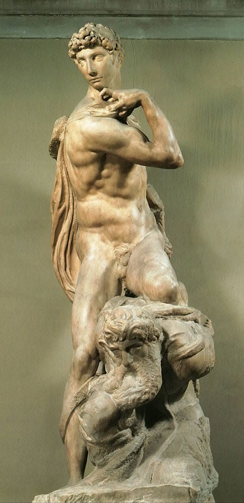 "genius of victory by michelandgelo ""the statue depicted tommaso  genius of victory michelangelo"