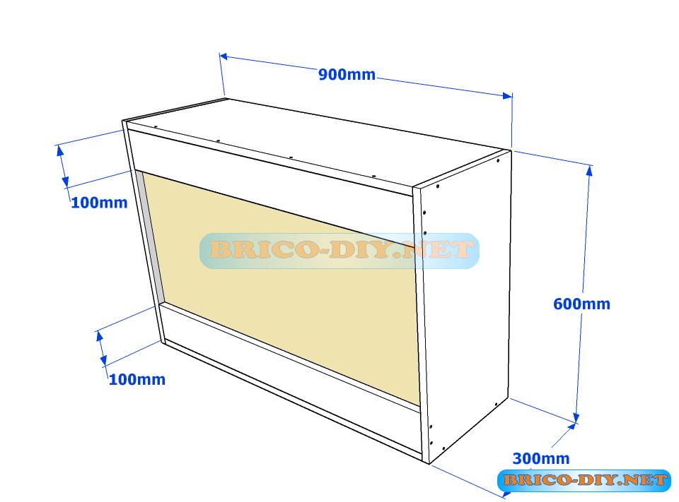 Muebles de cocina plano de alacena de melamina esquinera en L | Web ...