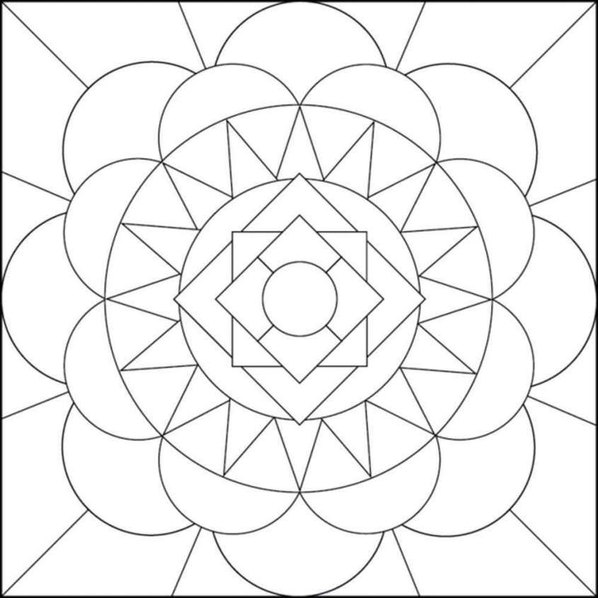 disegni geometrici per bambini da colorare disegno per bambini geometrico mandala coloring. Black Bedroom Furniture Sets. Home Design Ideas
